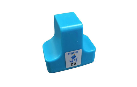 Replacement Cyan Ink Cartridge, Fits HP 02, Compatible with Part C8721WN & 140