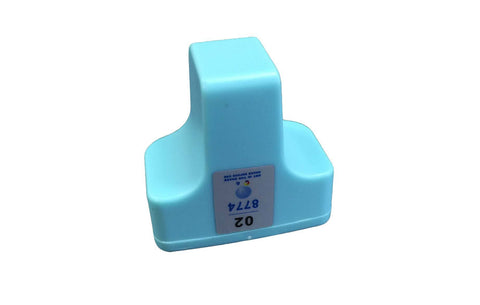 Replacement Light Cyan Ink Cartridge, Fits HP 02, Compatible with Part C8721WN & 140