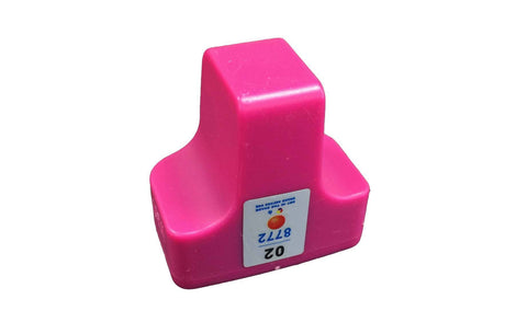 Replacement Magenta Ink Cartridge, Fits HP 02, Compatible with Part C8721WN & 140