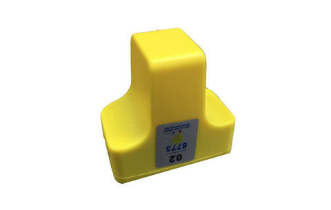 Replacement Yellow Ink Cartridge, Fits HP 02, Compatible with Part C8721WN & 140