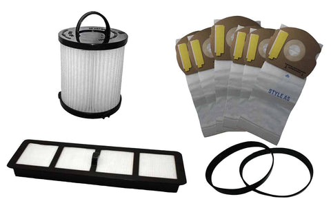 6pk Replacement Paper Bags, 2 U Belts, EF6 Filter & DCF21 Filter, Fits Eureka AirSpeed AS, Compatible with Part 67821, 68931, 69963, 66655 & 68155