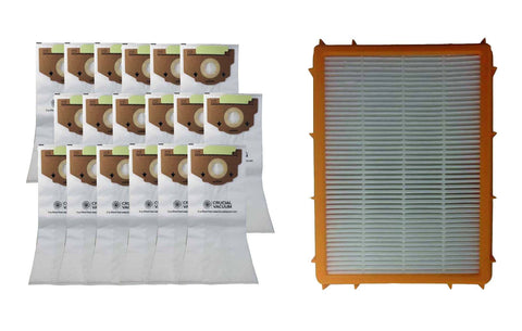 18pk Replacement Bags & 1 HF2 HEPA Style Filter, Fits Eureka RR, Compatible with Part 6115, 63295A &  61111