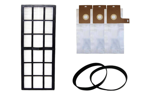Replacement HF7 Filter, 3 J Bag & 2 U Belt Kit, Fits Eureka, Compatible with Part 61850, 61515C-6 & 61120
