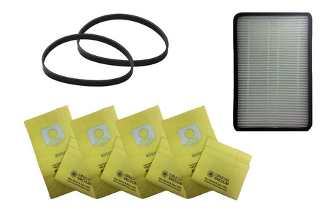 2pk CB6 Belts, 1 EF2 Filter & 9 5055 Paper Bags, Fits Kenmore, Compatible with Part 86880, 20-5201 & 20-5055