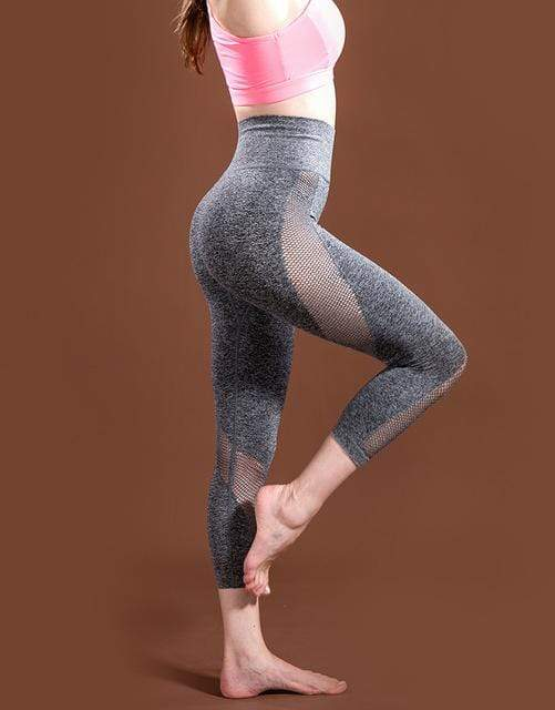 SeraChoice Gris / L Mallas de Yoga Jaspeadas Ultra Flexibles