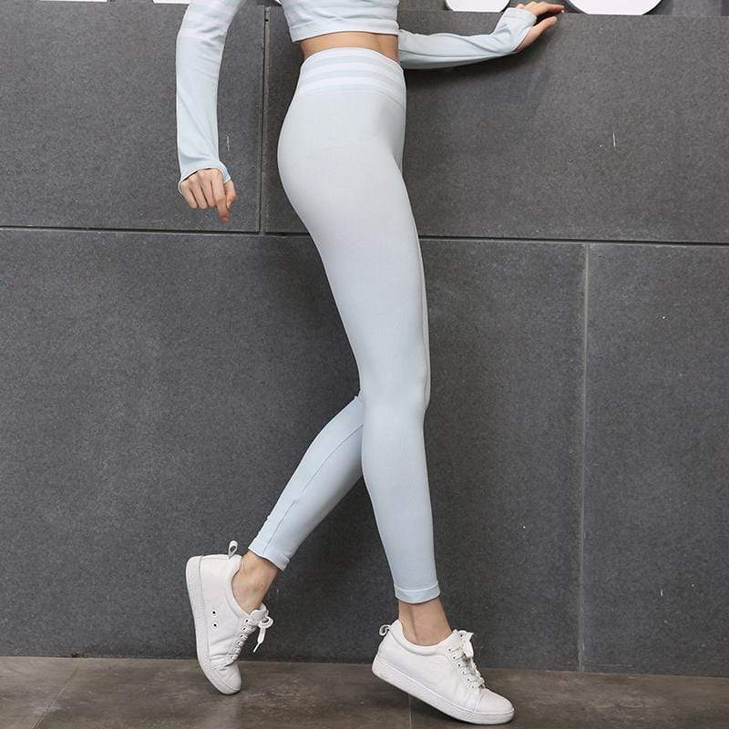 SeraChoice gris Yoga Leggings Tipo Linear