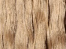 Load image into Gallery viewer, Ash blonde weft Russian hair extensions Australia