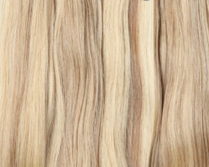 Blonde hair invisible tape Russian hair extensions Australia