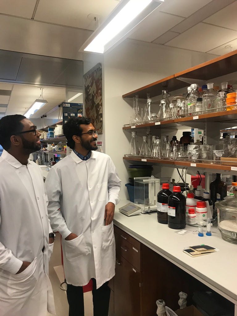 Killer Snails Interns Starlyn and Isaac tour Dr. Mandë Holford's lab during the first week