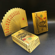 24K Gold Foil Playing Cards Set