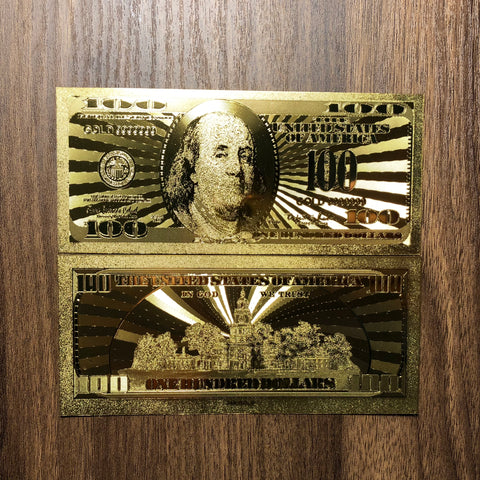 Original 24k Gold Foil 7 Piece USA Money Set