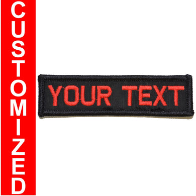 Custom Text Patch - 1x3.75