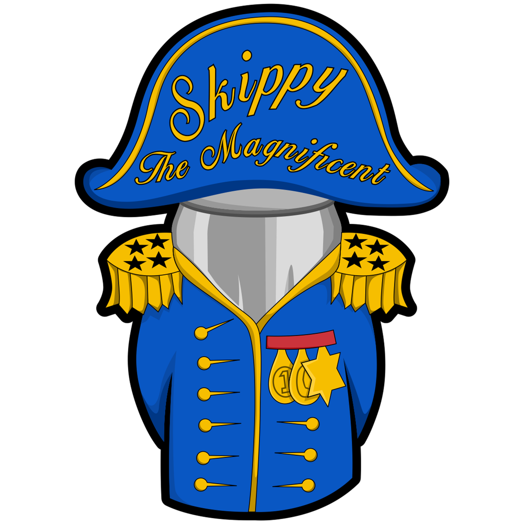 Admiral Skippy The Magnificent - 4 inch Sticker