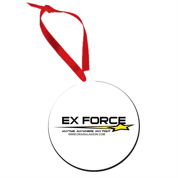 Ex-Force Logo - Sublimated Tree Ornament