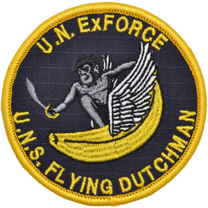 Flying Dutchman - 3.5 inch Embroidered Patch with Hook Fastener Backing - Full Color