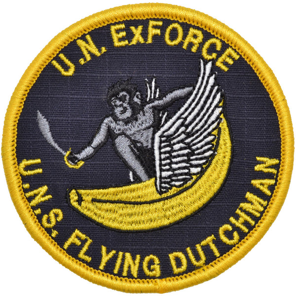 Flying Dutchman - 3.5 inch Embroidered Patch with Hook Fastener Backing