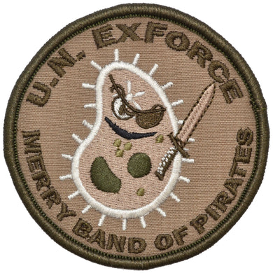 Merry Band of Pirates - 3.5 inch Embroidered Patch with Hook Fastener Backing - Coyote Brown