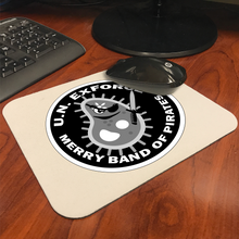 Merry Band of Pirates Black Logo Mousepad