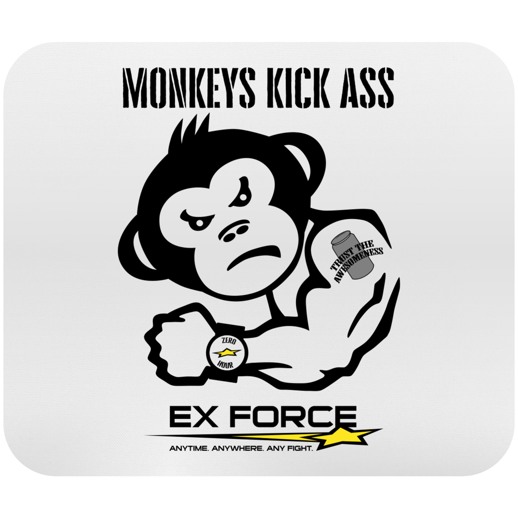 Monkeys Kick Ass Mousepad