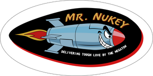 Mr. Nukey - 3x6 inch Sticker