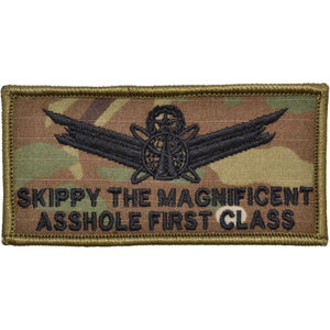 Skippy the Magnificent AFC - 2x4 Patch with Hook Fastener Backing - MultiCam