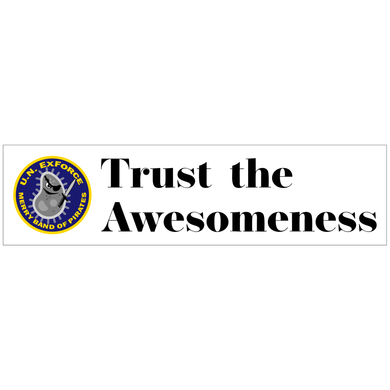 Trust the Awesomeness - 3x11.5 Bumper Sticker
