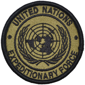 U.N.E.F. ExForce - 3.5 inch Embroidered Patch with Hook Fastener Backing - OCP/Scorpion