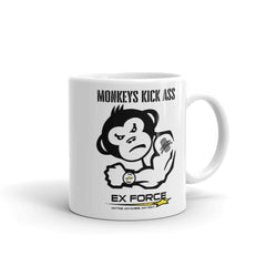 Monkeys Kick Ass Mug