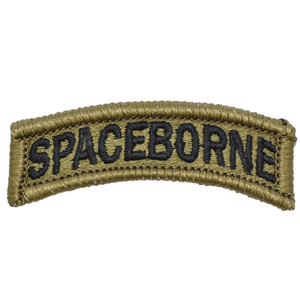 Spaceborne - Embroidered Tab Patch with Hook Fastener Backing - OCP/Scorpion