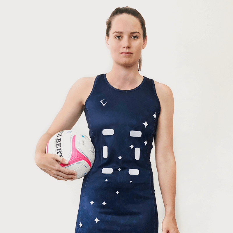 Custom Netball Dress | Galaxy - Slate