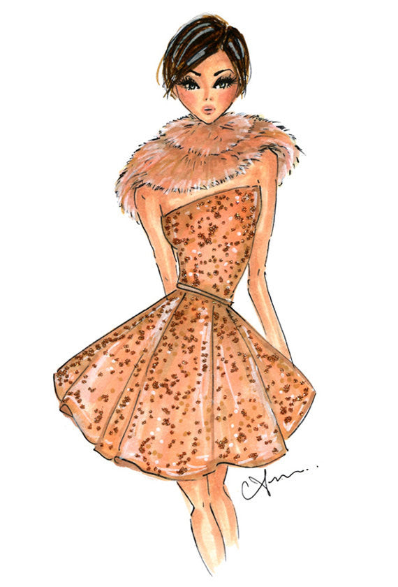 Elie Saab Couture Fashion Illustration