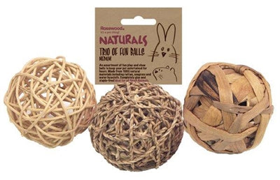 Trio of fun balls medium 8 cm