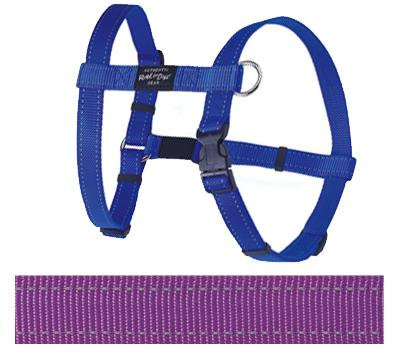 Rogz for dogs fanbelt tuig paars 20 mmx45-75 cm