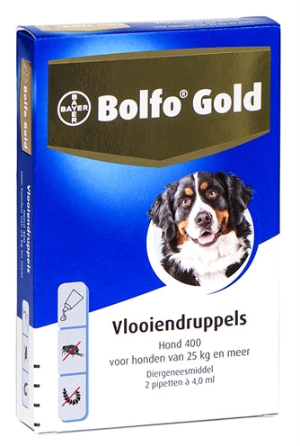 Bolfo gold hond vlooiendruppels  400 2 pipet