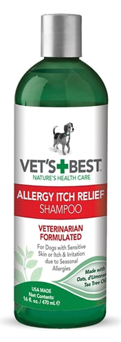 Vets best allergy itch relief shampoo 470 ml