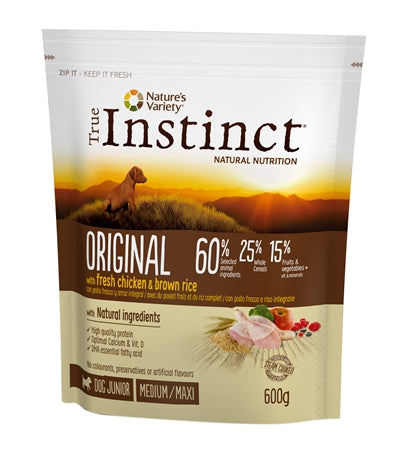 True instinct original medium junior chicken 600 gr