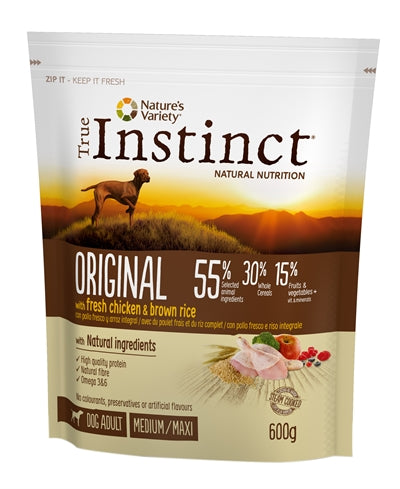 True instinct original medium adult chicken 600 gr