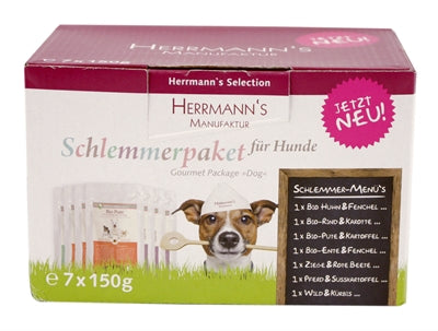 Herrmanns selection dog multipack pouches 7x150 gr