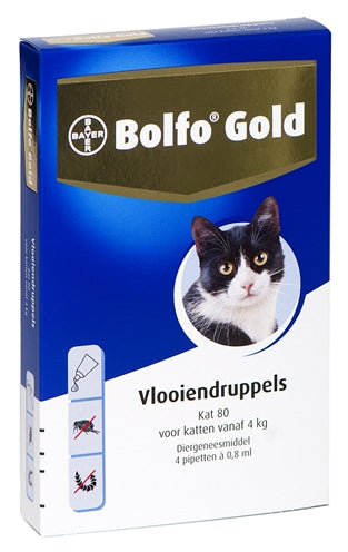 Bolfo gold kat vlooiendruppels 80 4 pipet
