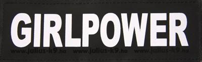 Julius k9 labels voor power-harnas/tuig girlpower small