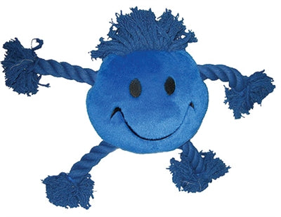 Happy pet happy faces pluche smiley blauw 29x26x8 cm