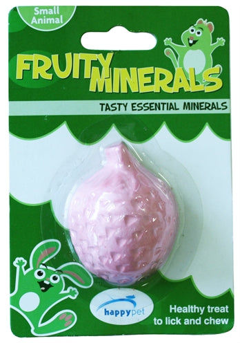 Happy pet fruity mineral aardbei 5,5x4,5x2,3 cm