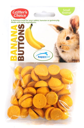 Critter's choice banana buttons 40 gr
