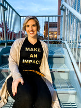 Load image into Gallery viewer, 'Make An Impact' Black & Gold Tee