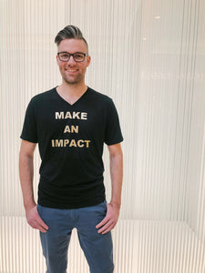 'Make An Impact' Black & Gold Tee