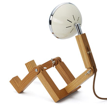 Laden Sie das Bild in den Galerie-Viewer, Mini Mr. Wattson Tischlampe - Vintage White
