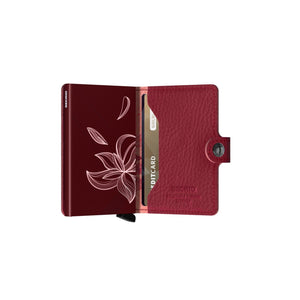 Secrid Brieftasche - Stich Magnolia Red