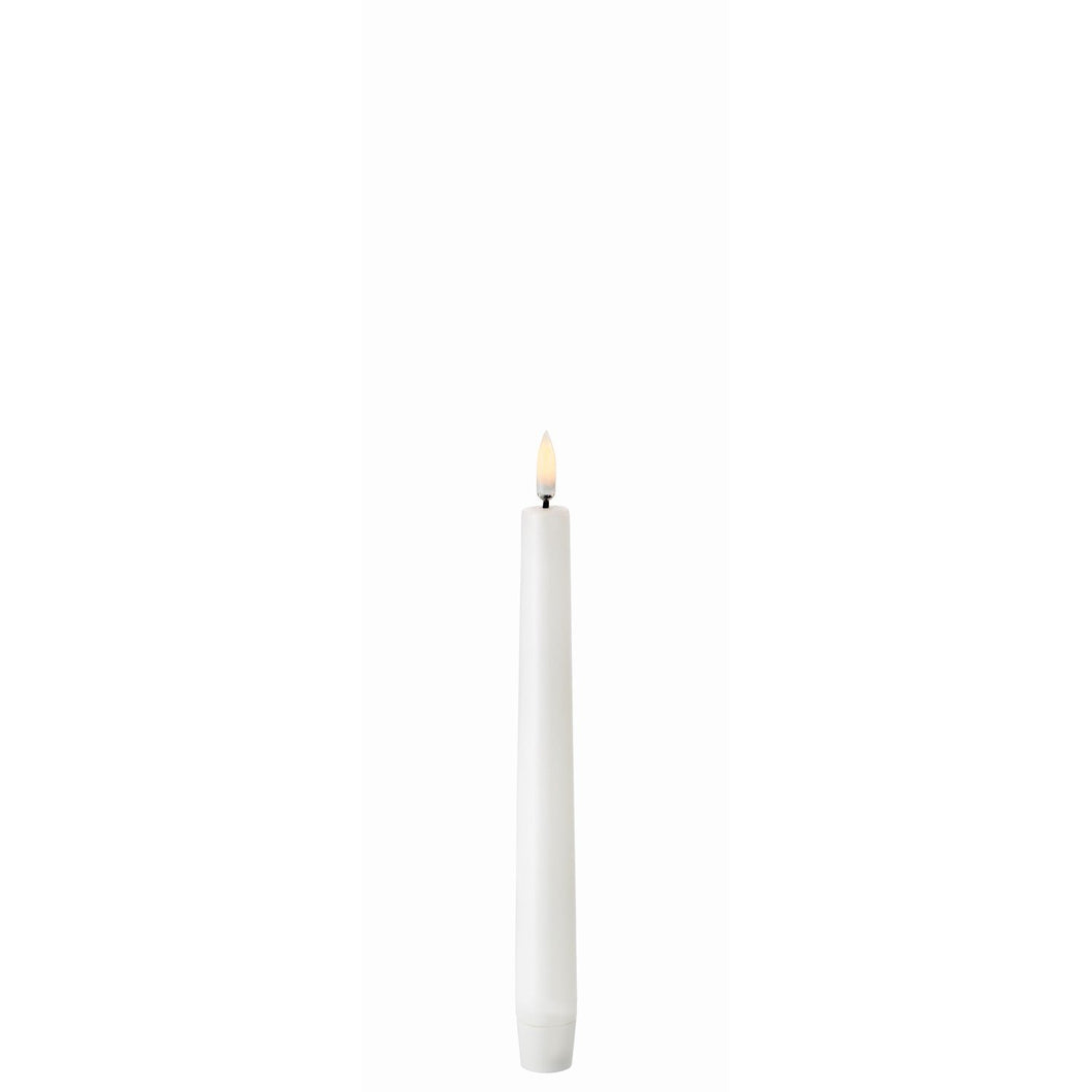Uyuni Lighting Led-Stabkerze in Echtwachsbasis, 2,3 x 23 cm, Nordic White