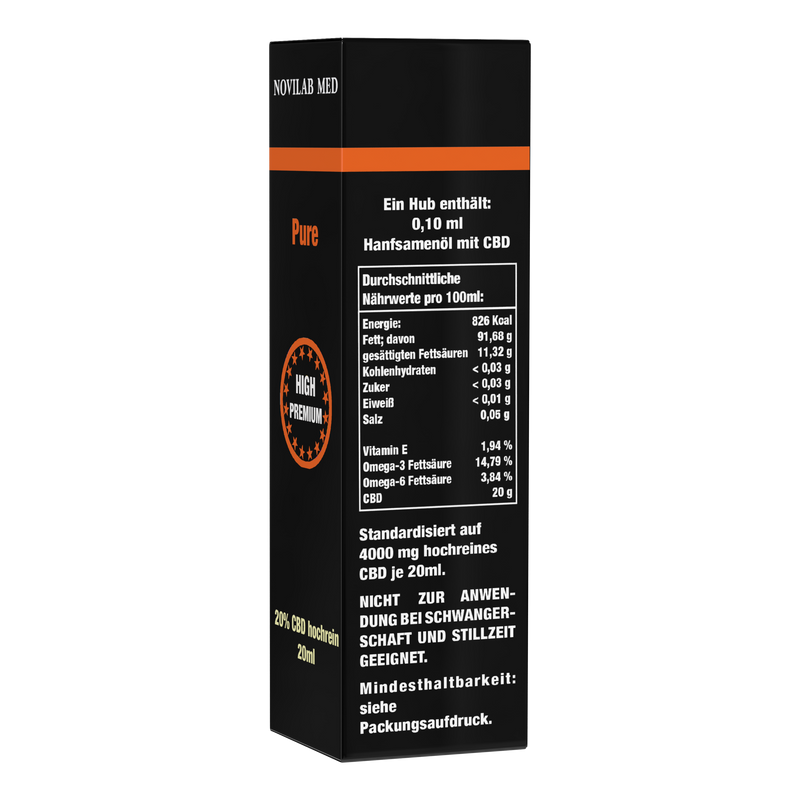 Pure CBD 20% - 20ml - Novilab Med