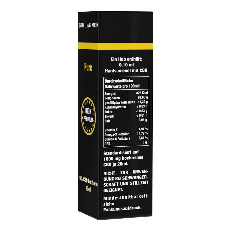 Pure CBD 5% - 20 ml - Novilab Med